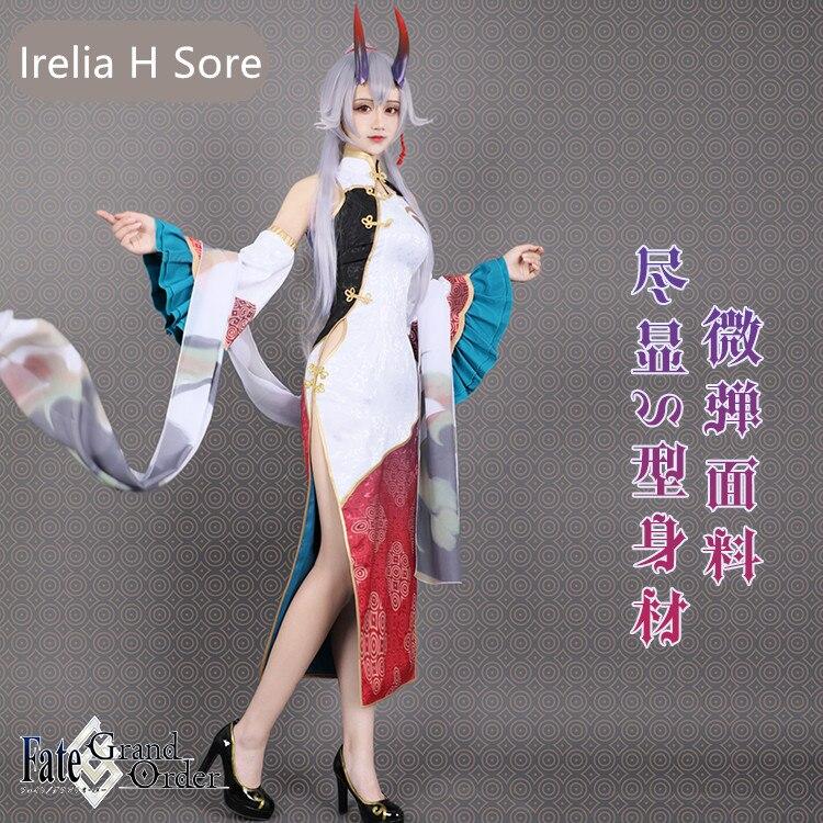 NEW! Tomoe Gozen FGO Cosplay Fate Grand/Order Tomoe Gozen cheongsam cosplay new year's carnival costume for girls dress 2