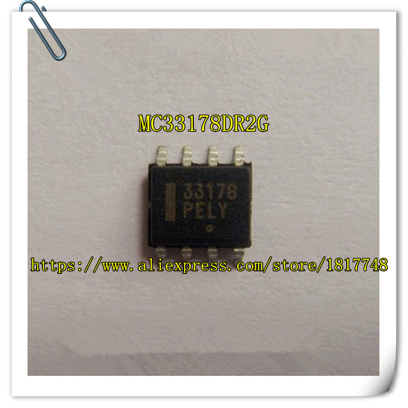 50PCS/LOT MC33178DR2G   MC33178  33178 SOP-8  Audio Frequency Dual Operational Amplifier Integrated Circuit Chip