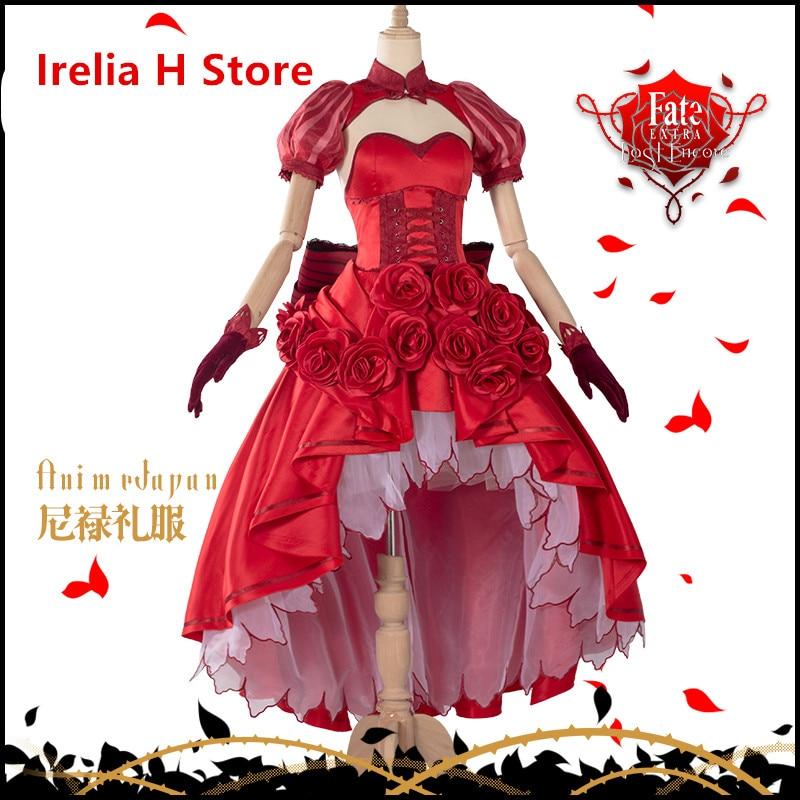 Nero Matou Sakura Saber Fate EXTRA Last Encore Cosplay nero saber Matou Sakura cosplay costume dresses