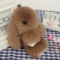 Мех кролика Кукла Ручной Кролик брелок для Женщин Сумка Сумка или Автомобиля Подвеска брелок Pom Pom Брелок