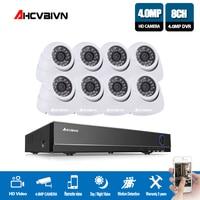 AHCVBIVN 4MP 8CH HDMI DVR 4.0MP HD indoor Home Security Camera System 8CH CCTV Video Surveillance DVR Kit AHD 4 Camera Set