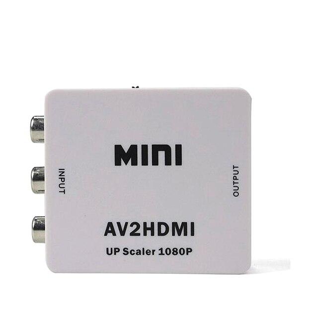 Новый RCA AV для HDMI Адаптер Конвертер Mini Composite CVBS, чтобы HDMI AV2HDMI Конвертер в Розничной Упаковке 1080 P Белый цвет