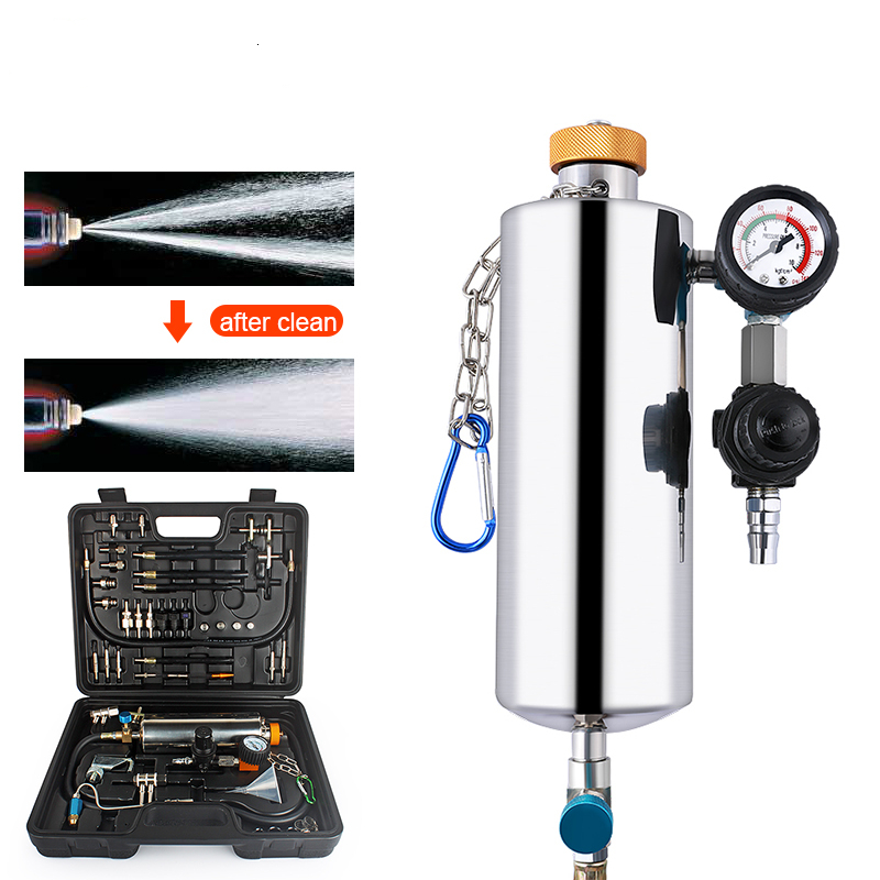 GX100 Car Fuel Injector Cleaning Machine Non Dismantle EFI Throttle Tester Service Mechanical Auto Cleaning injector