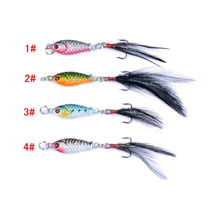 New Arrival 1pc Lead fish Fishing Bait 6g 4 colors Mini Metal Fishing Lure Fake Fish Bait