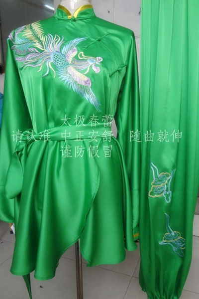 Customize Chinese wushu uniform Kungfu font b clothing b font Martial arts suit taolu outfit embroidered