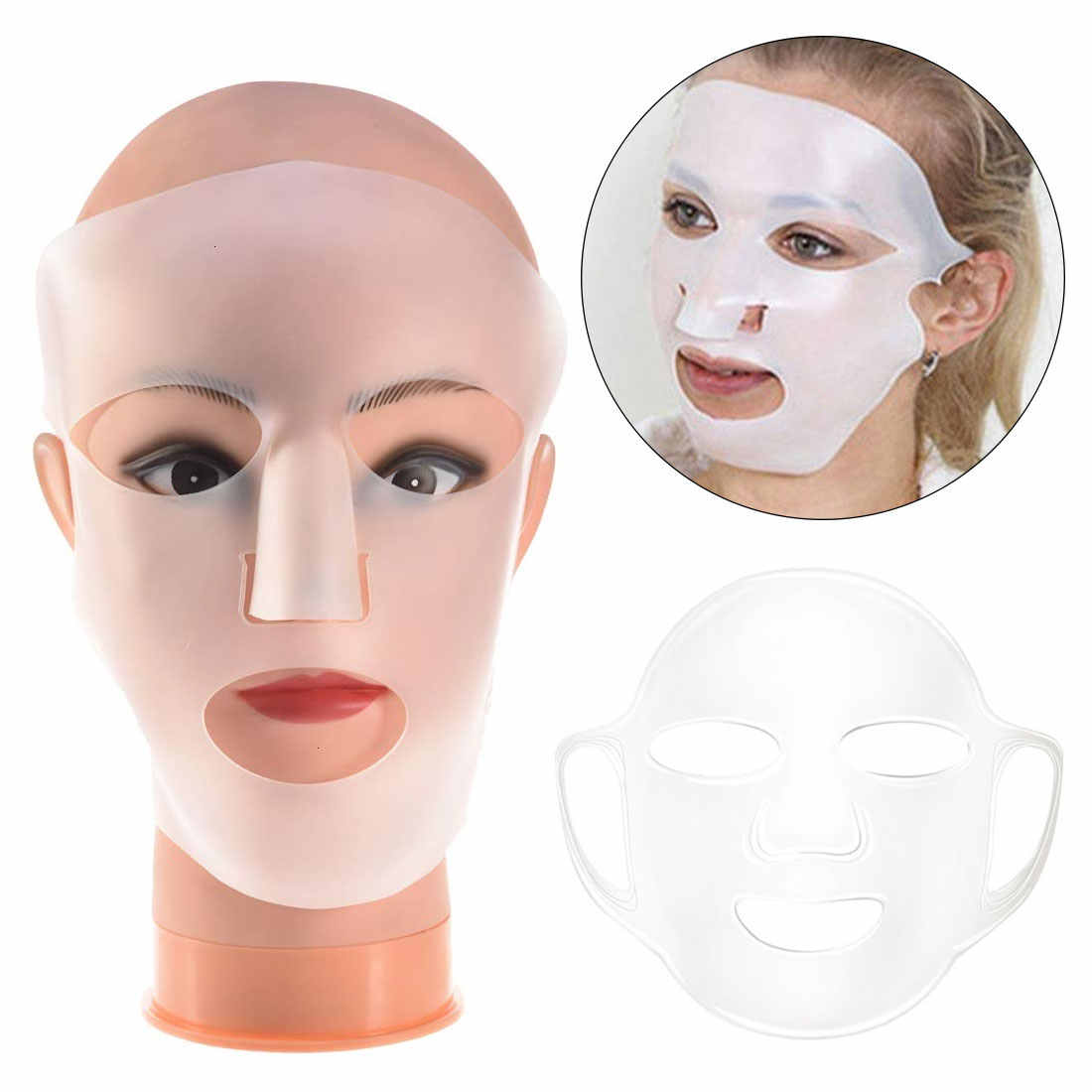 Уход за лицом многоразовый ушной крючок силиконовая маска для лица Блокировка увлажняющий, красота силиконовая маска прибор для ухода за лицом