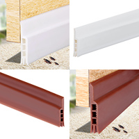 Self Adhesive Waterproof Soundproof Silicone Rubber Door Bottom Weatherstrip Seal Strip Draft Stopper for Bathroom Washroom