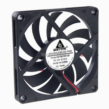 GDT DC 8010 12v fan axial cooler cooling 80x80x10mm 8cm fan free shipping 8010 brushless fan 5v dc 0 26a 8cm 80mm 80x80x10mm fan xh2 54 2pin power supply cooling fan length 200mm
