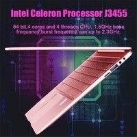 8g ram 256g ssd כל מתכת 14.1 אינץ אינטל 8G RAM DDR4 64G / 128g / 256G SSD אינטל J3455 נייד 1920x1080 IPS הצגת דקים מקלדת עם תאורה אחורית (3)