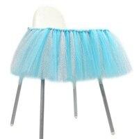 의자 스커트 테이블 식탁보 명주 투투 생일 웨딩 파티 장식 아기 샤워 선물 공예 DIY 호의 캔디 컬러