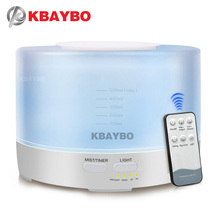 KBAYBO 500ml Electric Aroma air diffuser Ultrasonic humidifier Essential oil Aromatherapy strong mist maker for home