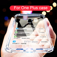 Anti-Knock Oneplus 6 6T 7 Pro Cases Original Transparent Clear Cover For 5 Silicone TPU Case One Plus 3T Soft Capa