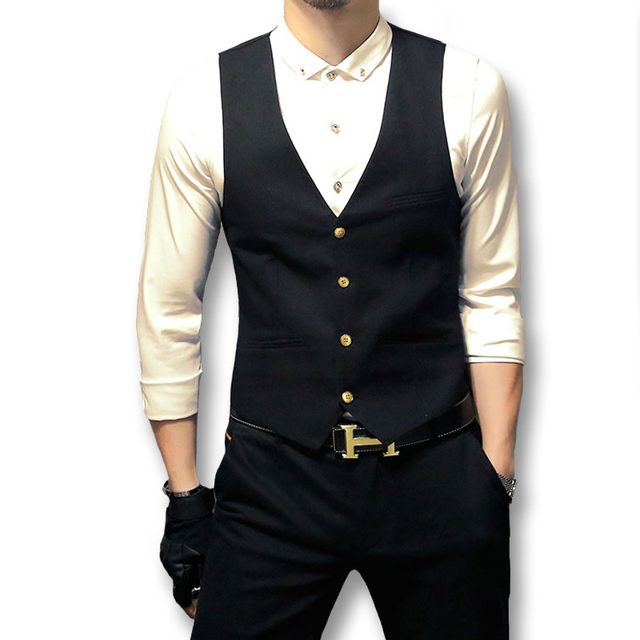 2016 New Men Blazers and Jackets Dress Suit Vests Veste De Loisir Men's Casual Fashion Slim Fit Sleeveless Blazers Jackets Male