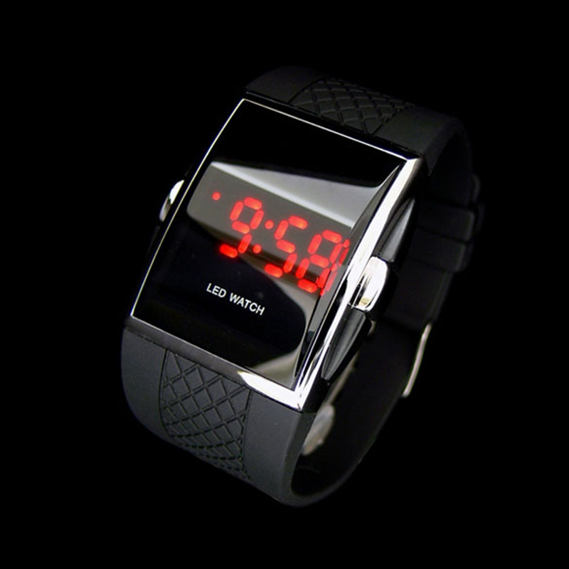 New Men Sports Watches LED Digital Watch Wrist watch Gifts Kid boys Men's Watch Black relogio masculino Causul montre homme