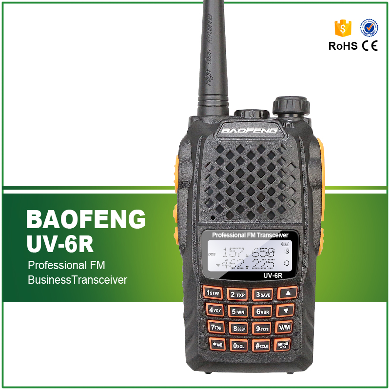Hot Sell Baofeng Original Wireless Dual Band Walkie Talkie UV-6R 136-174/400-520MHZ 5W Walkie Talkie With Earphone