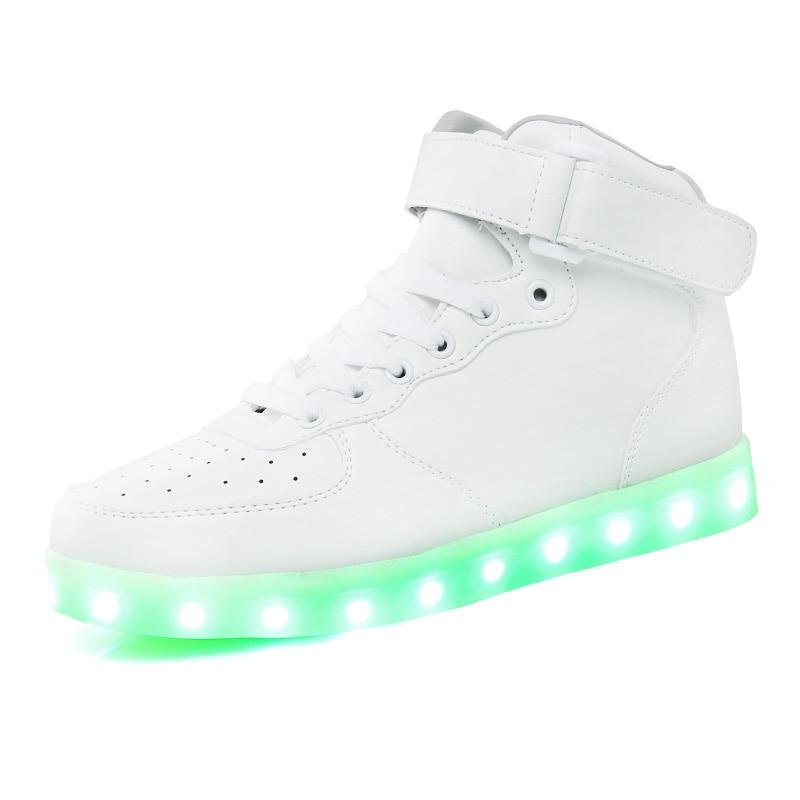 Uşaqlar üçün yüksək ayaqqabılar 7 Rəngli LED işıqlar, USB - Uşaq ayaqqabıları - Fotoqrafiya 2