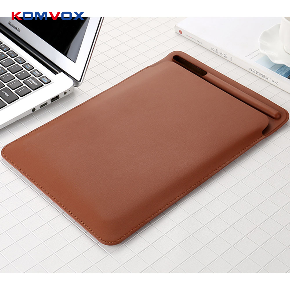 PU Leather Sleeve Case for iPad Pro 12.9 Pouch Bag Cover with Pencil Slot for iPad Pro 12.9 inch Leather Sleeve