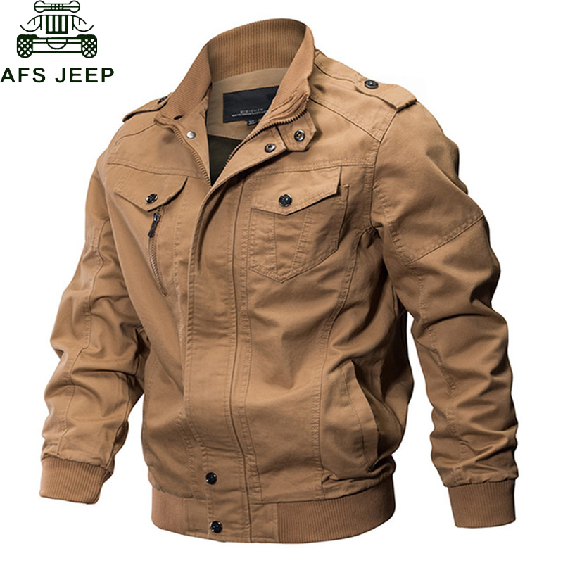 AFS JEEP Brand Jacket Men Winter Military Army Pilot Bomber Jacket Tactical Casual Air Force Flight Jacket hombre Big Size M-6XL