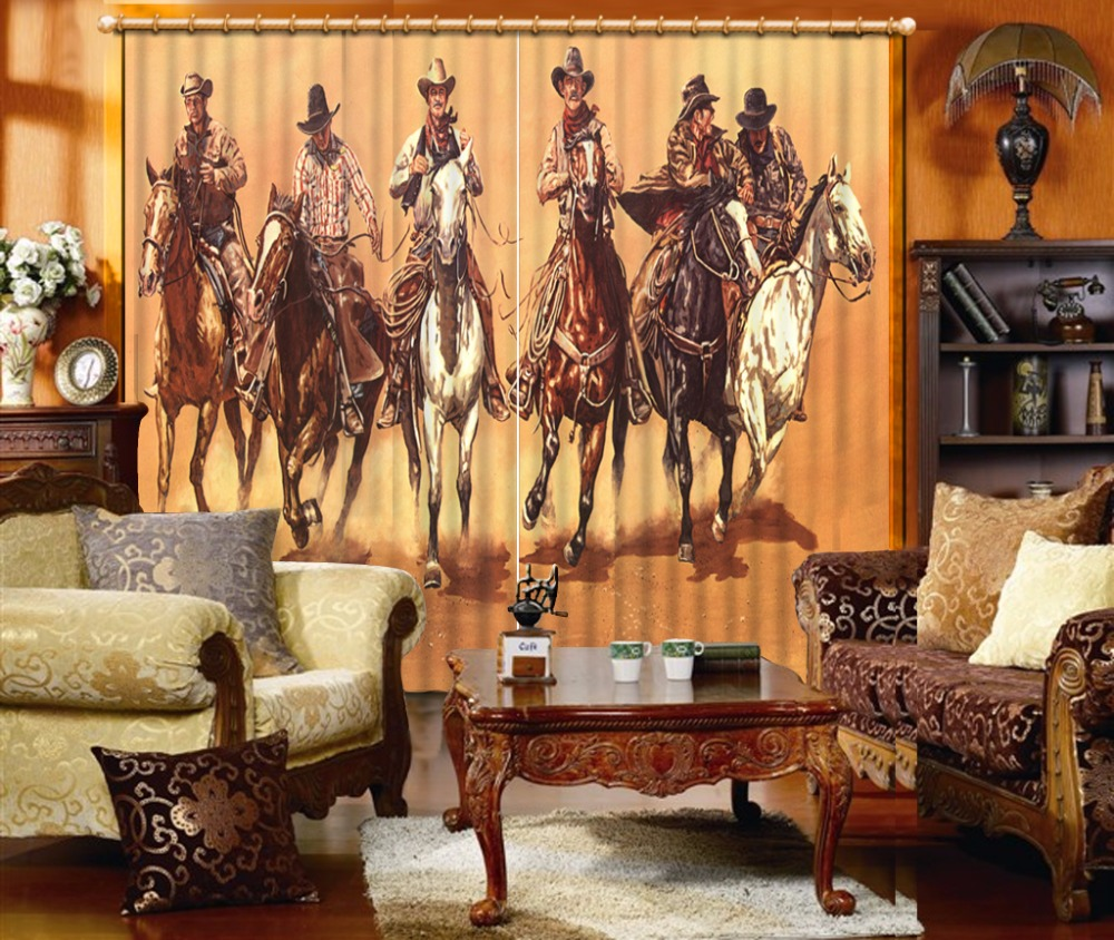 3D Curtains Window Horse Curtains For Living Room Luxury Bedroom Curtains Blackout Blinds Curtains