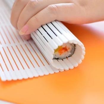 Портативная кухонная роллер для суши «сделай сам», приспособление для приготовления водорослей, нори, суши, занавесок