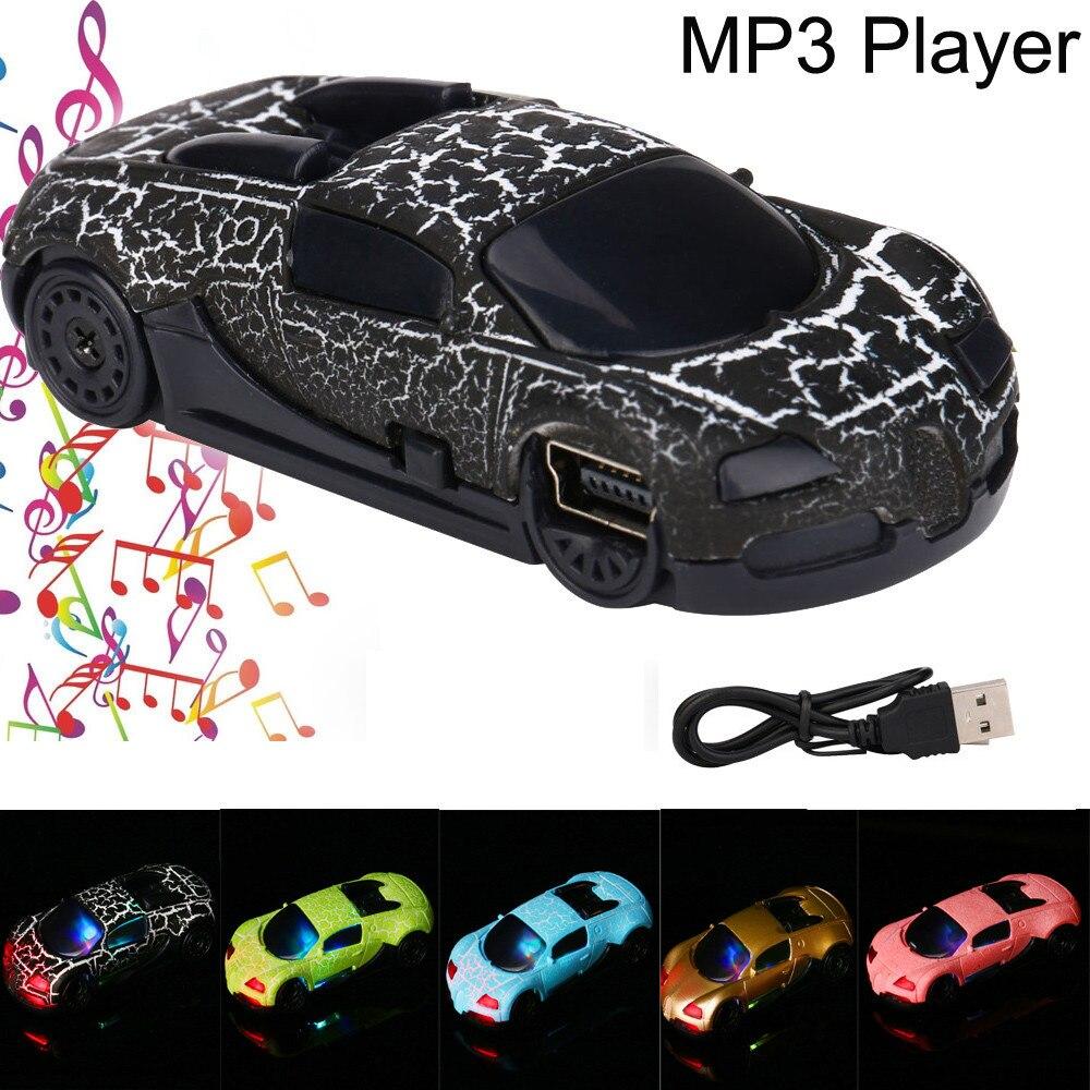Portable Super Cute Car USB Mini Plastic Illuminate MP3 Player