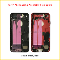 New Back Middle Frame Chassis Full Housing Assembly Battery Cover With Flex Cable For Iphone 7