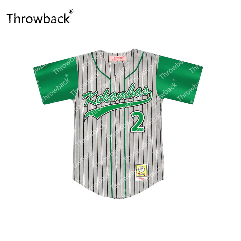 Player  2  3  6 Kekambas Hardball Throwback Movie Baseball Jersey S-5XL  Stitched 3ae93039b5