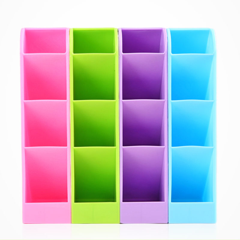 Plastic Home Accessories Candy Color Desktop Storage Box Remote Control Tools Multi-laye ...