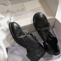 Лидер продаж; сезон весна осень; кожаные женские туфли лодочки; шикарная женская обувь на низком каблуке; Женская обувь в стиле ретро со шнур