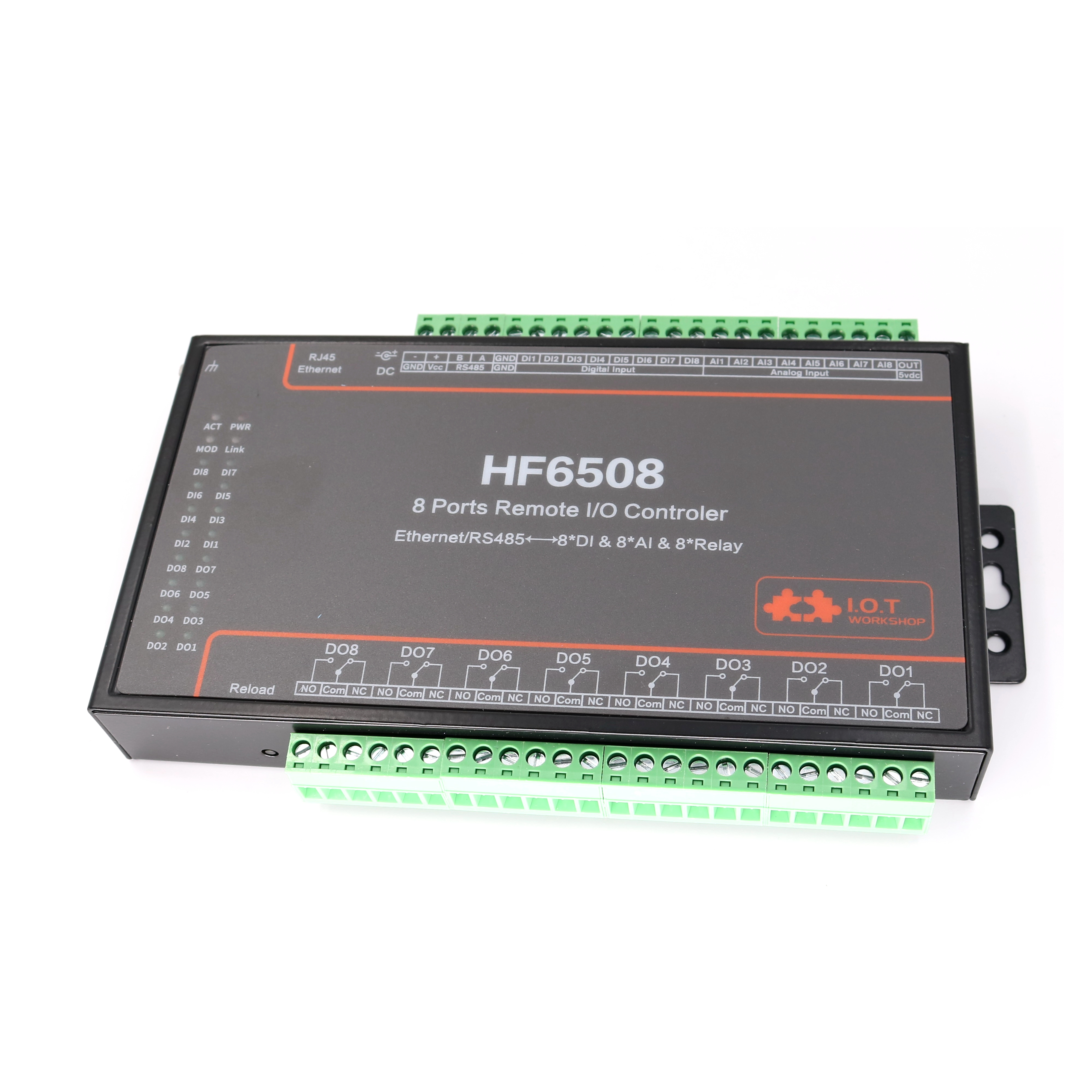8 Way Remote I/O Controller Ethernet/RS485 8CH Digtal Analog Input 8CH Remote Relay