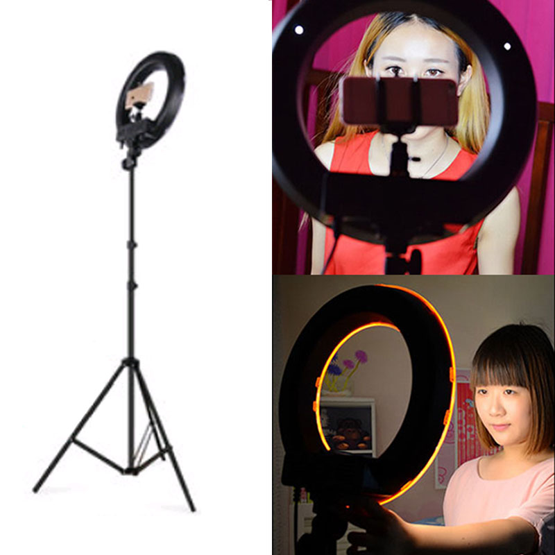 Digital Gear Bags Systematic Roadfisher Photography Ring Led Light Lamp Flash For Photo Studio Cell Phone Video Anchor Live Broadcast 2m Tripod Stand Holder