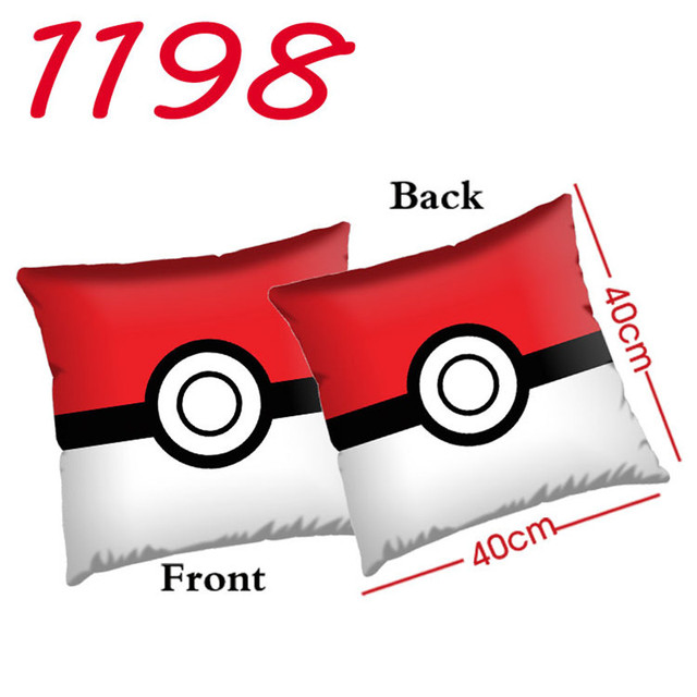 Newest Style Anime Poke go Pokeball Gamboy Embroidery Plush Gift Big Pillow Cushion Hight Quality 40cm*40cm