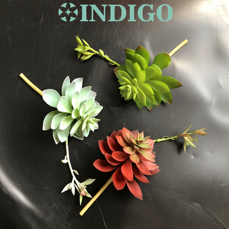 INDIGO-1 SET Succulent Plant Bonsai Artificial Plastic Flower Office Table Decoration Green Plant Background Free Shipping