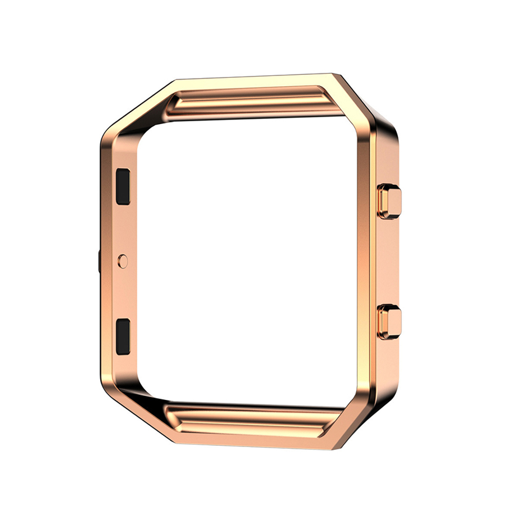 Metal Polished Electroplated Watch Frame Shell for Smart Watch Fitbit Blaze Watch Holder Gold Silver Black Rose Gold I107. metal ring holder for smartphones silver