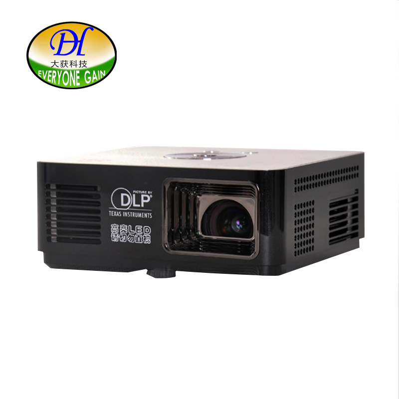 Everyone Gain mini200 Portable Pico Projector Highlight DLP LED TV Video Proyector Office Home theater Build