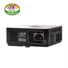 Todos Ganan fotográficas de Resalte LED DLP Pico Proyector Portátil TV Oficina Construir-en el altavoz de cine en Casa Proyector de Vídeo Proyector