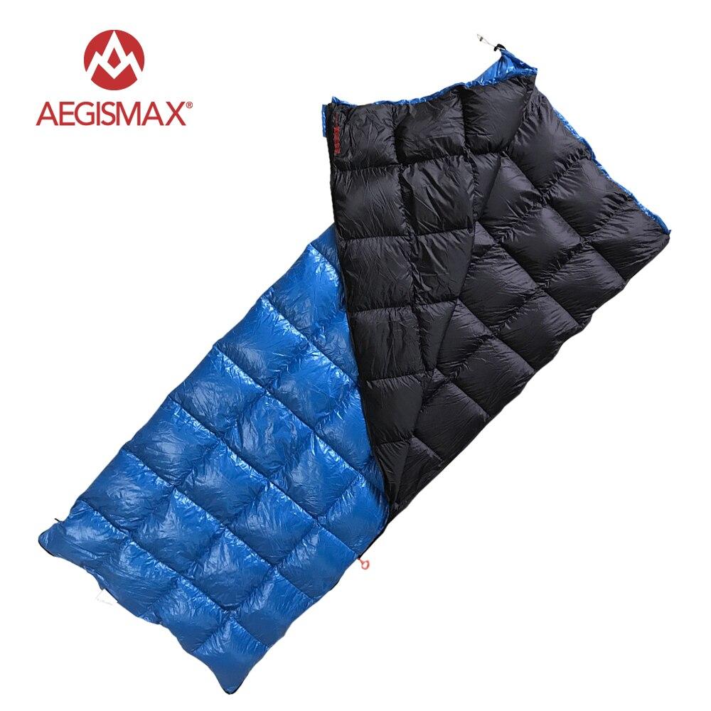 AEGISMAX Ultra Léger 90% Blanc Canard vers le bas sac de couchage camping sac à dos de type Enveloppe sac de couchage Extérieur et Famille