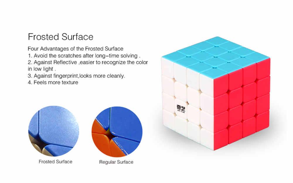 4X4X4 QiYi QiYuan Кубик Рубика для профессионалов Скорость Куб Головоломка на Скорость Куб обучающий игрушки для детей рождественские подарки для детей Cubo Magico