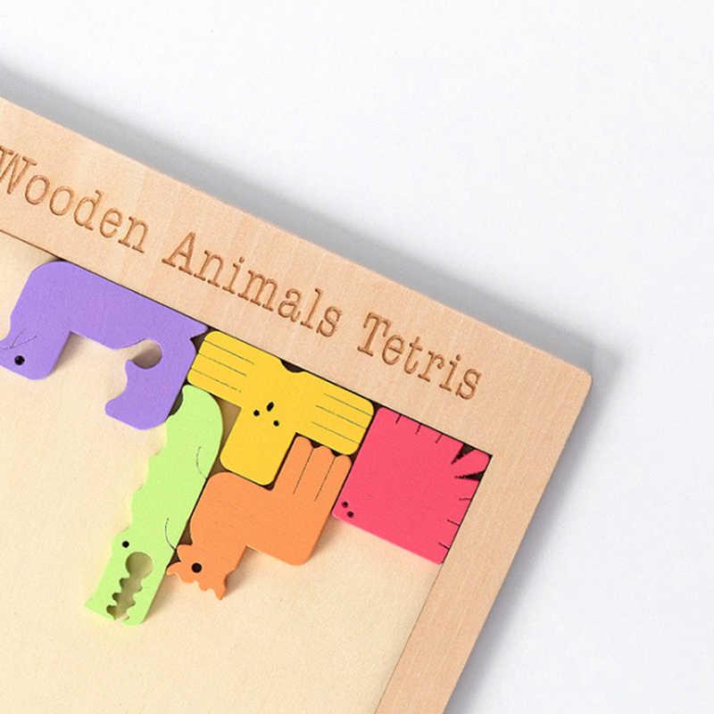 لطيف ثلاثية الأبعاد الاثاث الخشبية بانوراما المجلس اللعب Tangram الدماغ دعابة بازل للأطفال اللعب تتريس لعبة ألعاب الأطفال التعليمية الهدايا الخشبية