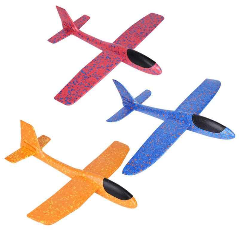 49 см мини-пенопласт летающий самолет ручной запуск бесплатно летающий самолет ручной бросок самолет игрушки-головоломки для детей
