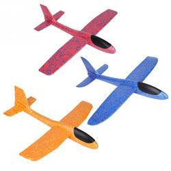 49cm Mini Schaum Werfen Fliegende Flugzeug Flugzeug Hand Starten Freies Fly Flugzeug Hand Werfen Flugzeug Puzzle Modell Spielzeug für kinder Kinder