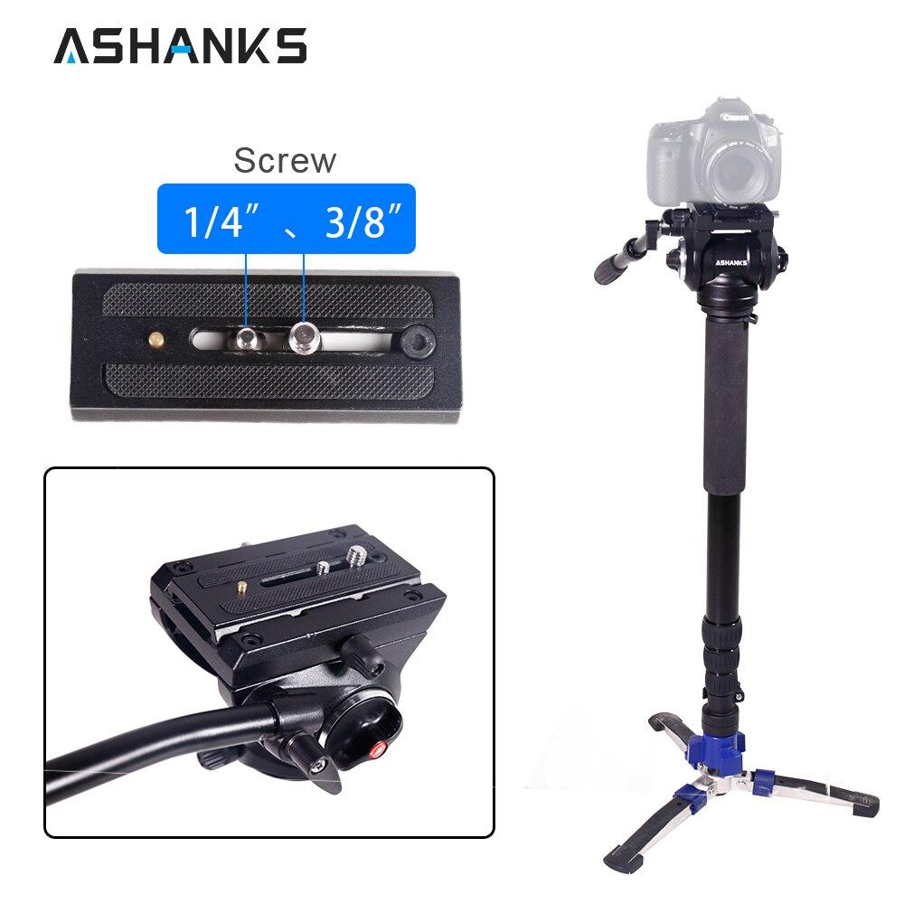 Камера монопод стенд с Quick Release Plate Гибкая жидкости штатива стабилизатор для Canon sony DSLR Фотостудия аксессуары