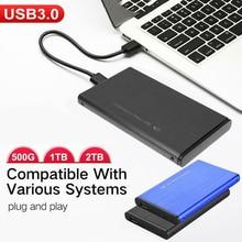 Mini Portable 500GB 1TB 2TB HDD 2.5inch USB 3.0 External Mobile Hard Disk Drive