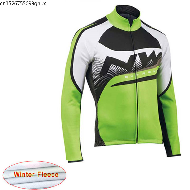 NW Long sleeve Cycling Jersey Racing Bicycle Mountain Winter Thermal Fleece cycling clothing Maillot Ropa Ciclismo Hombre C28(China)