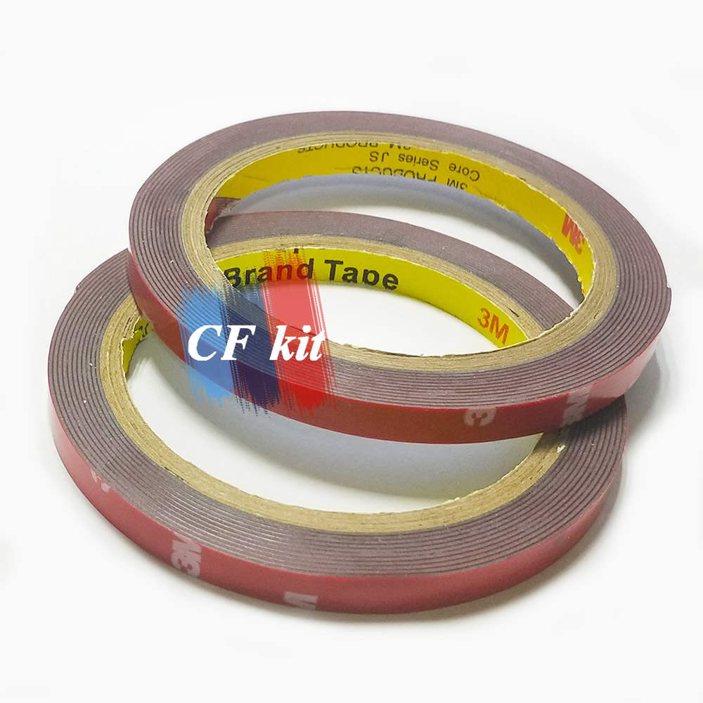 CF Kit Two Rolls of 8mm thick 3M Automotive Acrylic Foam Double Sided Adhesive Tape For Car