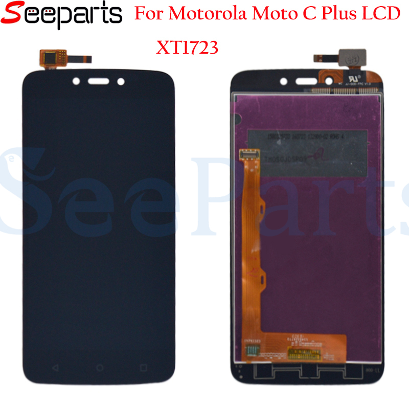 Black Gold LCD Display For Motorola Moto C Plus <font><b>XT1723</b></font> LCD With Touch Screen Digitizer Assembly Free Shipping image