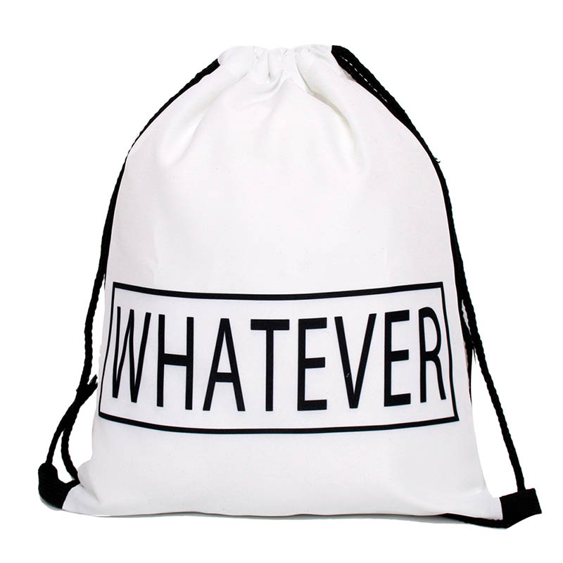 High Quality polyester Drawstring Bag Beach Women Men Travel Storage Package Teenagers Backpack sac femme with