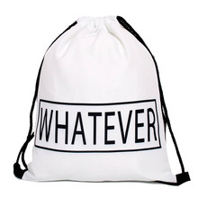 High Quality polyester Drawstring Bag Beach Women Men Travel Storage Package Teenagers Backpack sac femme with printing logo