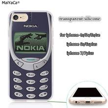 Классический ретро 3310 прозрачный мягкий чехол для мобильного телефона iphone 5s se 6 6s 6plus 7 7plus 8 8plus X XR XS MAX чехол