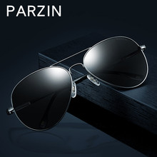 PARZIN Men Polarized Sunglasses Classic Pilot Male Sun Glasses Shades Gafas Glasses For Driving With Case Black 8023B(China)